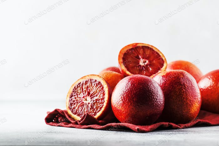 Red bloody oranges