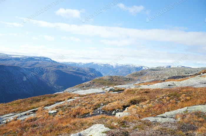 Scenic view of Norvegian national park