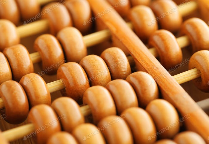 old abacus close up