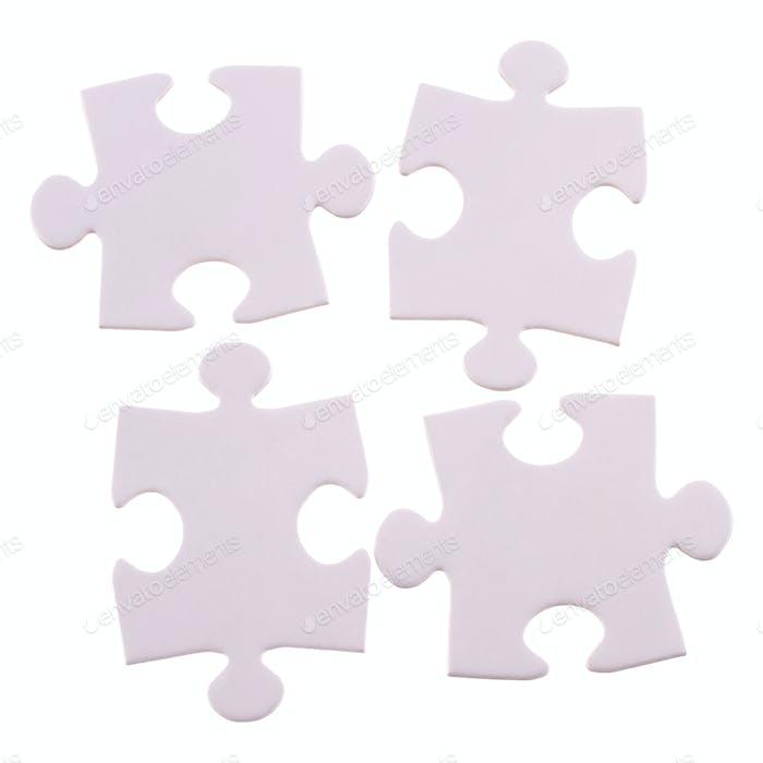 Cuatro piezas rompecabezas