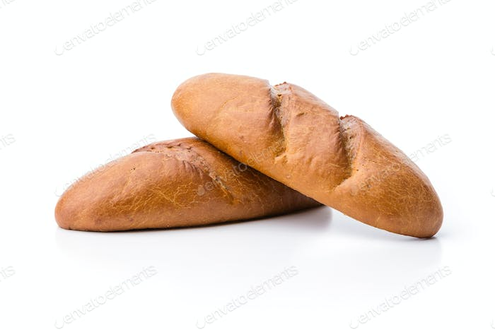 Loaves of white bread