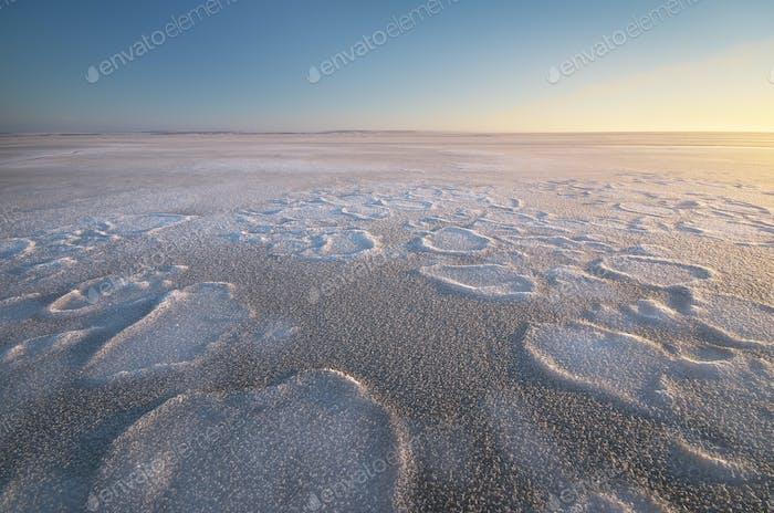 Winter nature landscape