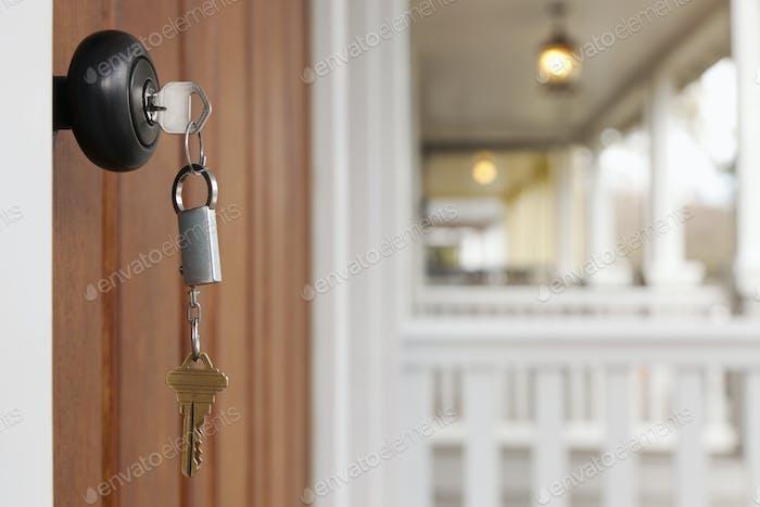 54028,Key in front door