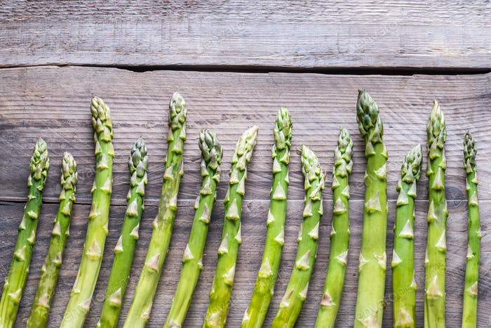 Bunch of fresh asparagus