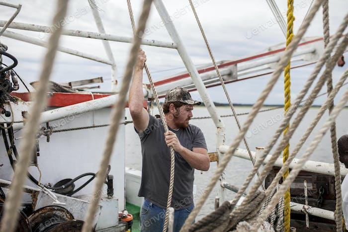 Fishing boat deckhand