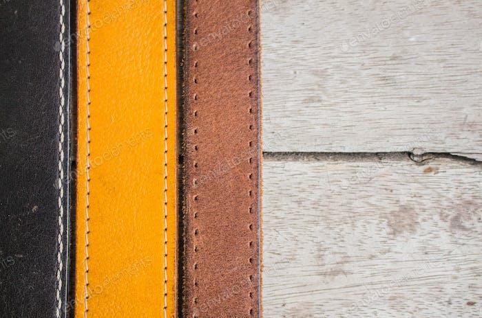 Leather belt arranged