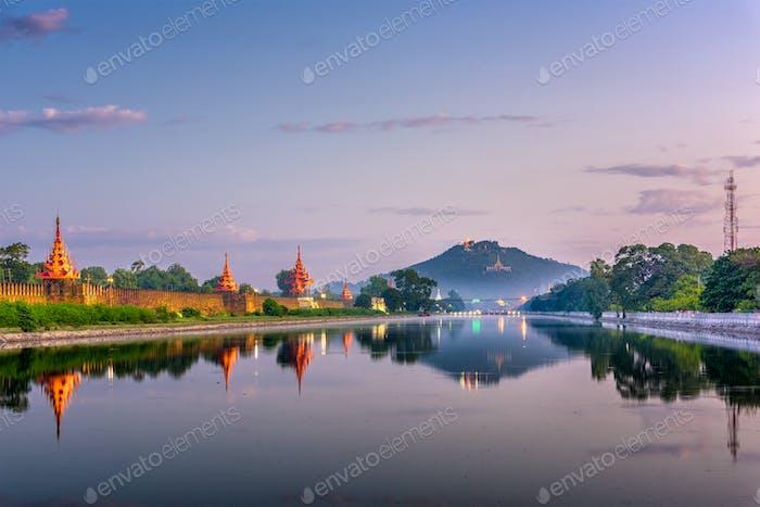 Mandalay, Myanmar bei Mandalay Hill