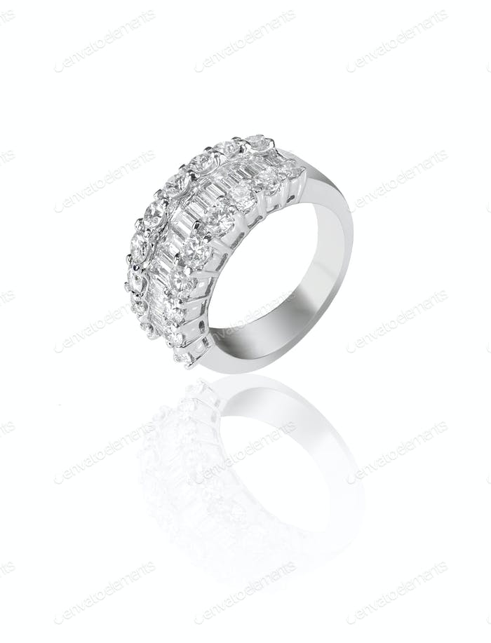 Diamond encrusted engagment wedding anniversary ring
