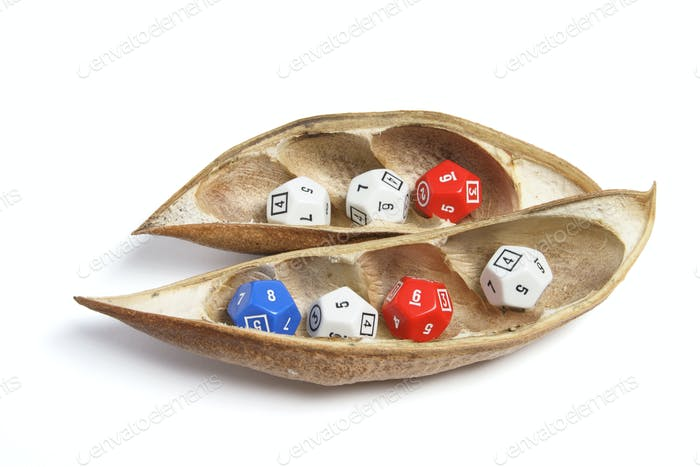 Dice in Dry Pods