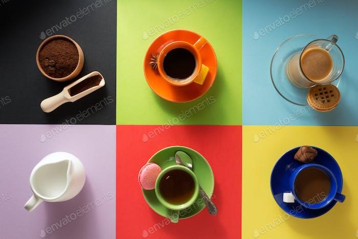 Tasse Kaffee, Tee und Kakao