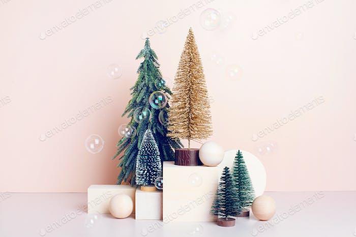 Verschiedene Weihnachtsbäume