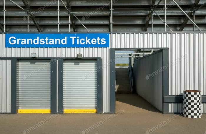 grandstand ticket booth