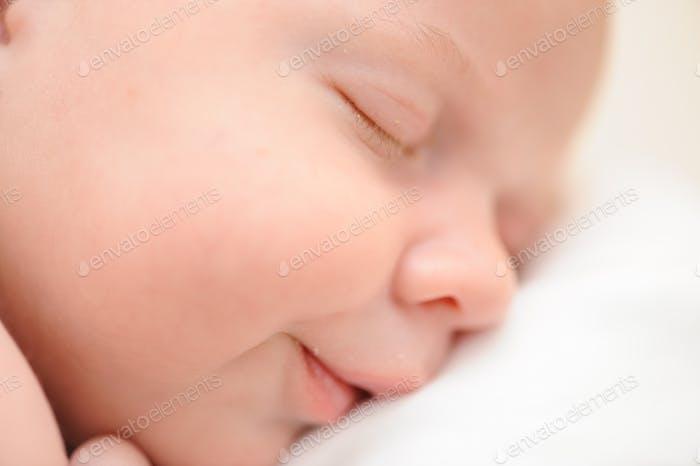 Portrait of sleeping baby