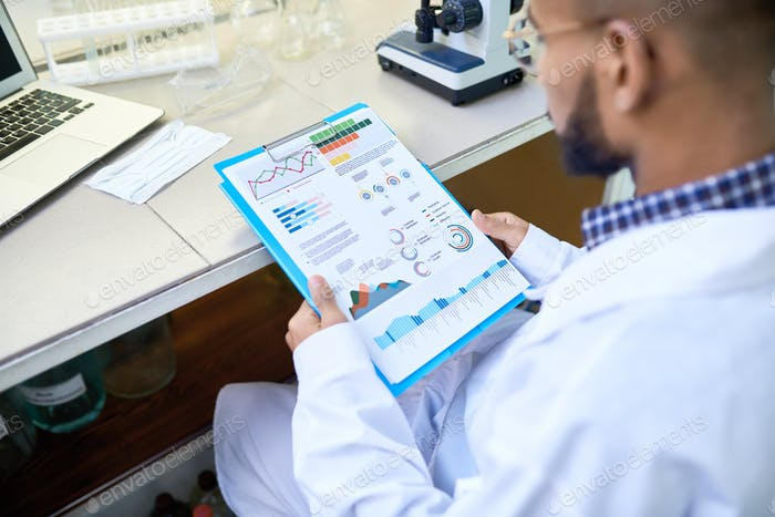 Scientist Doing Research in Laboratory