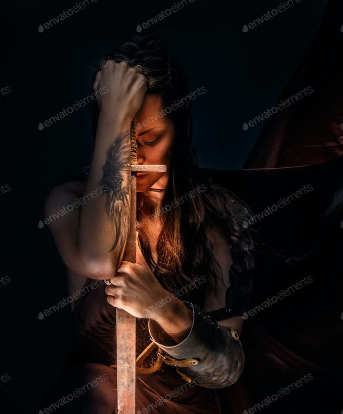Portrait of mystic elf woman.