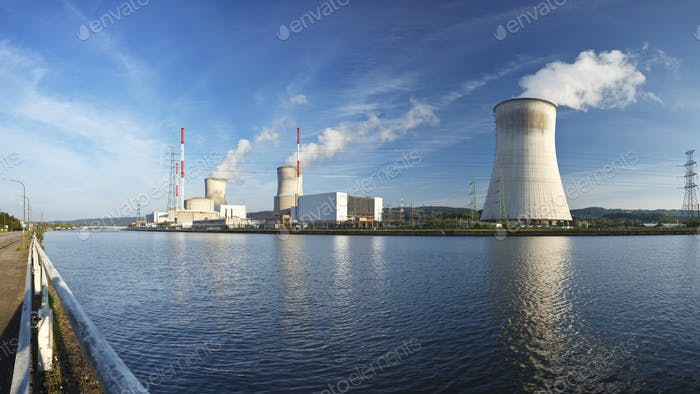 Nuclear Power Station Panorama