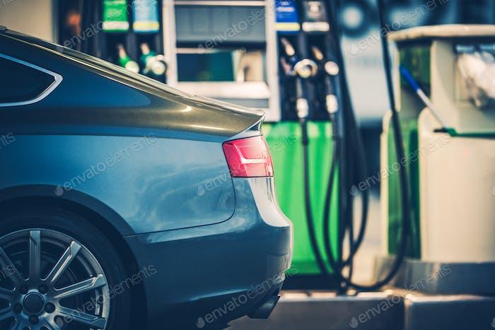 Gas Station Car Refueling
