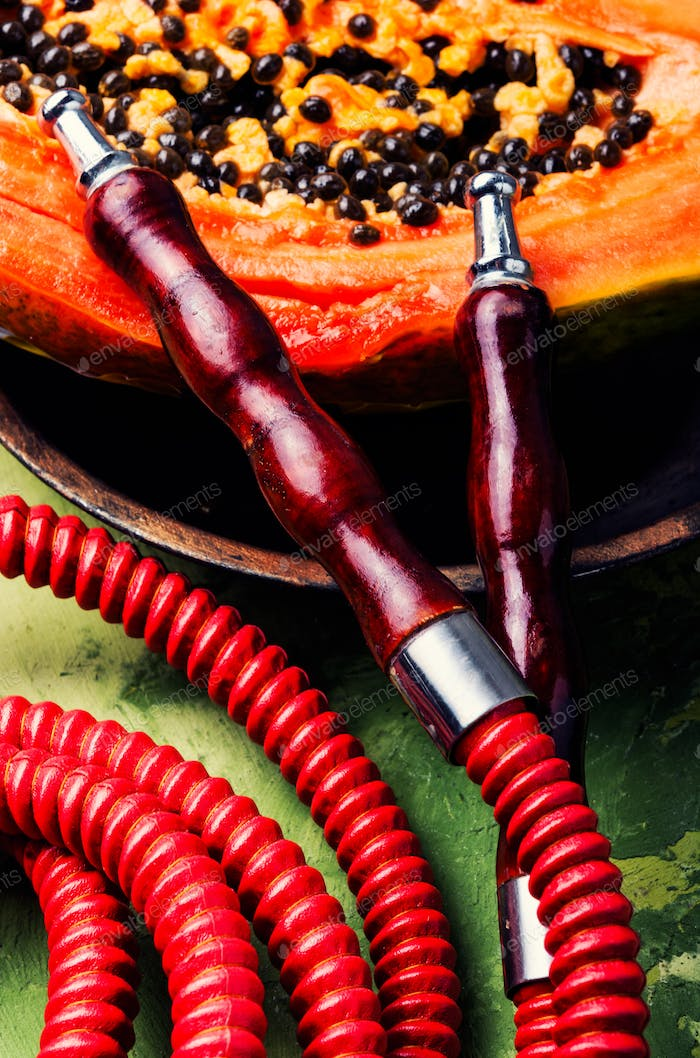 Oriental shisha with papaya