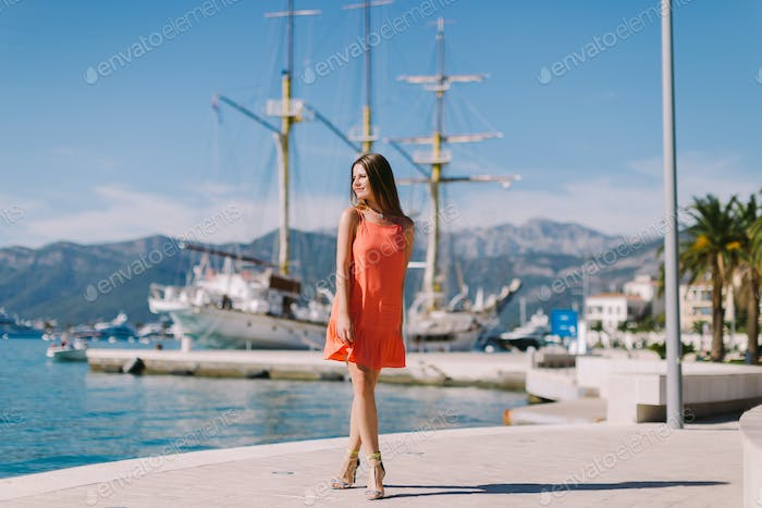 beautiful woman travel Europe