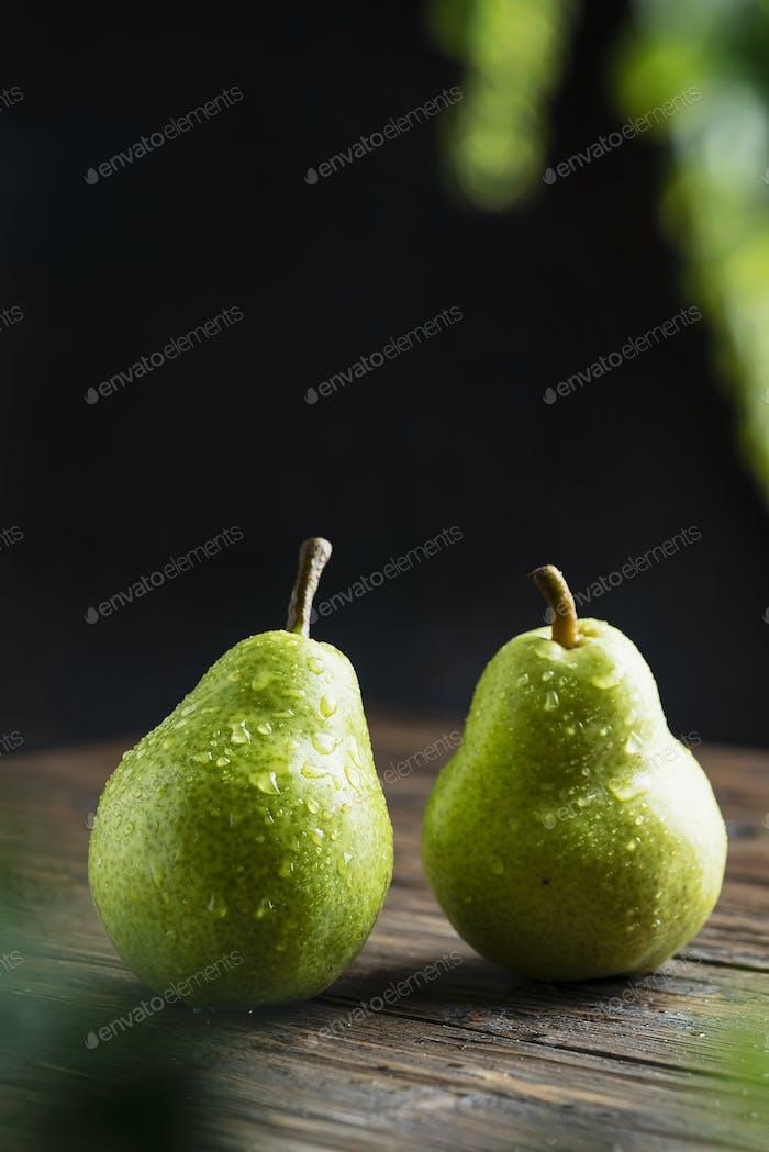 Süße grüne Birnen