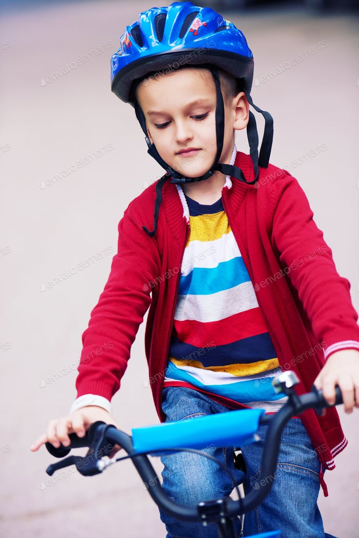 boy on the bicycle at Park