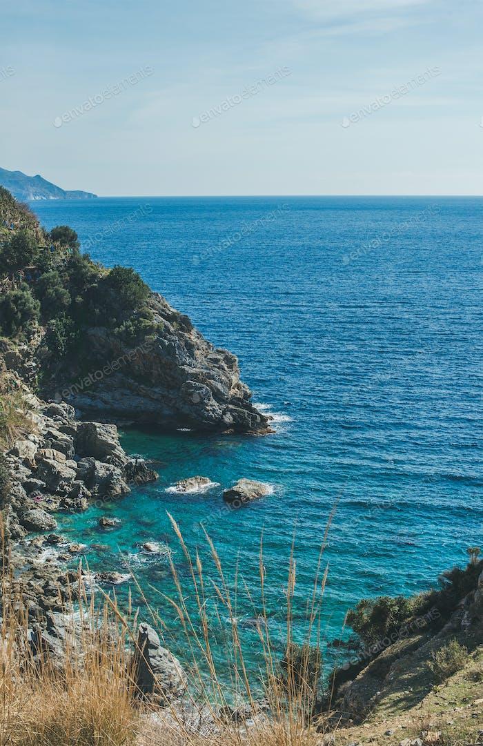 Rocks and beautiful natural lagoon, Mediterranean sea, Turkey