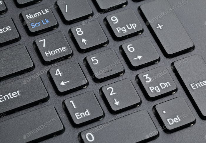 number keyboard of computer