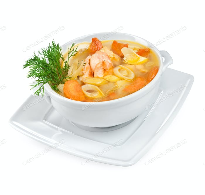 Soup from seafood