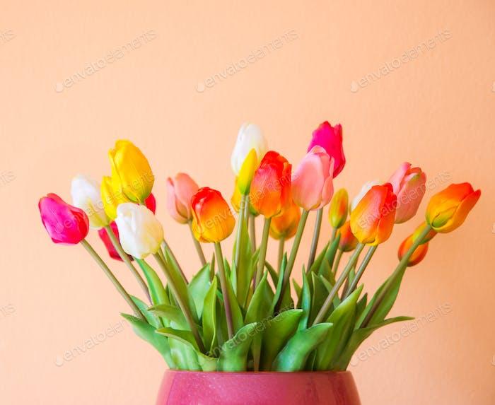 Tulpe Blumenstrauß in einer Vase