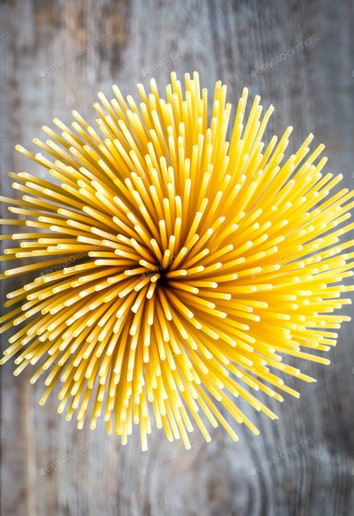 Ein Haufen Spaghetti: Draufsicht