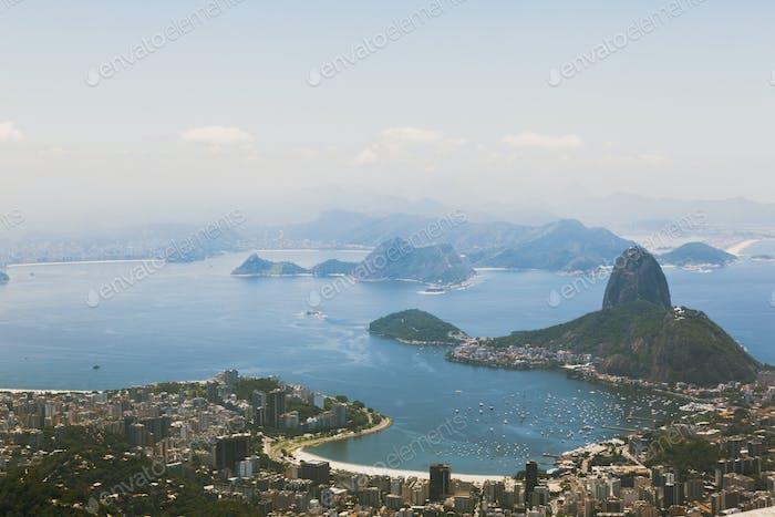 Luftbild über Rio De Janeiro