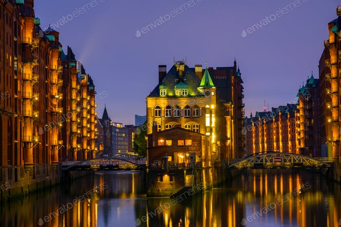 The historic Speicherstadt, Hamburg