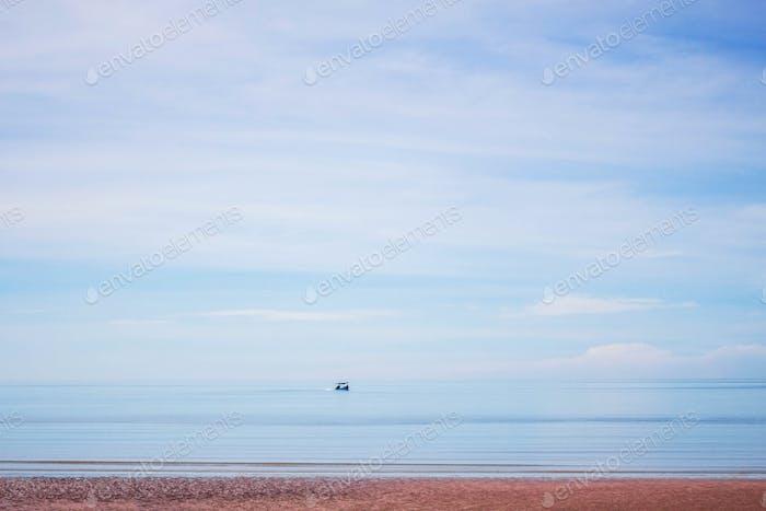 Beaches on blue sea