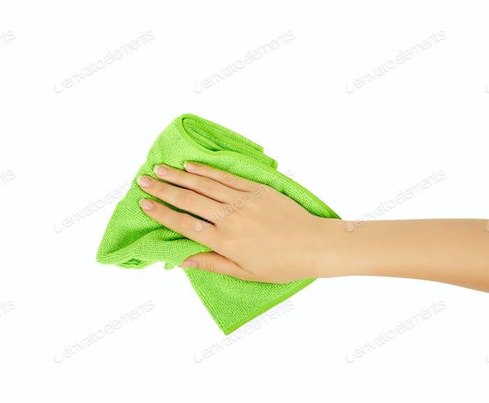 hand holding a sponge