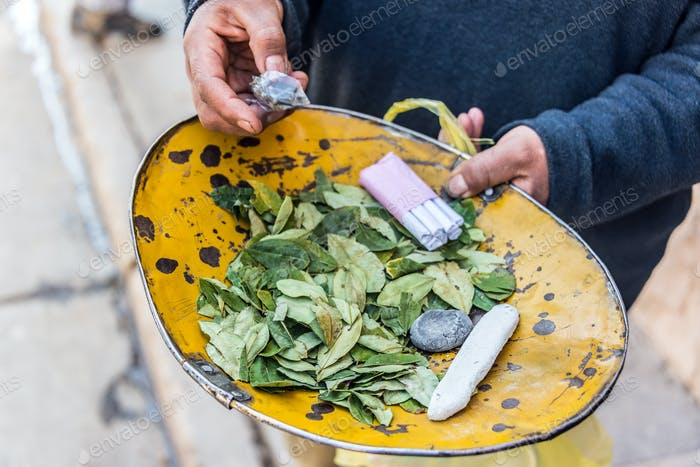 Coca Leaves in Potosi