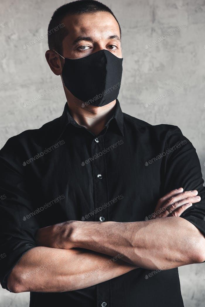 Coronavirus. Mann trägt hygienische Maske, Infektion, in der Luft, Grippe, Pandemie, Gesundheit, 2019-nCov