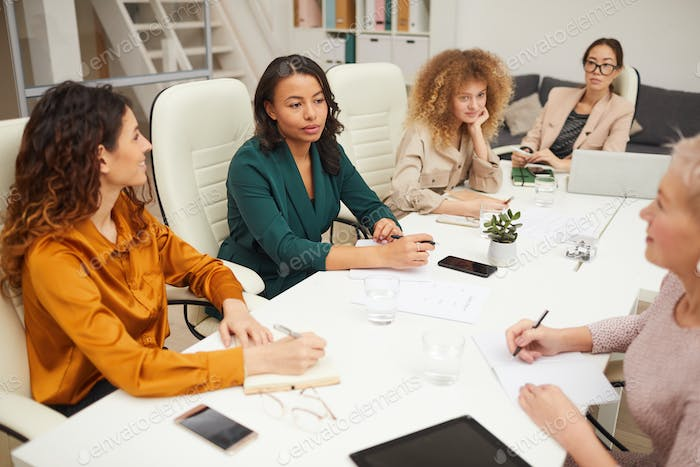 Group Of Businesswomen Working