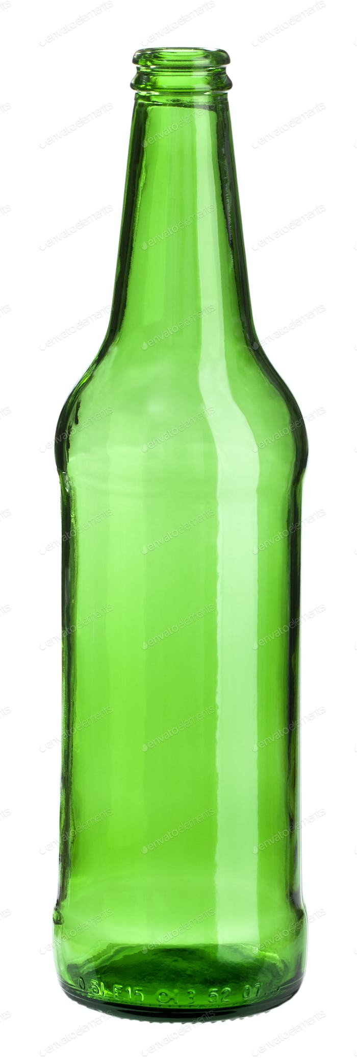empty green bottle