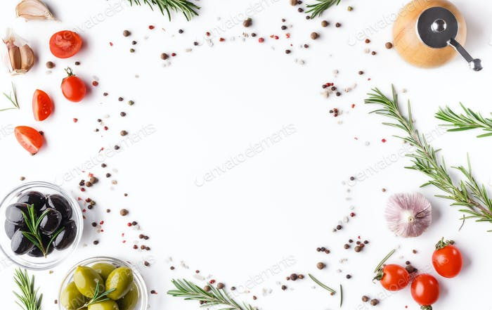 Food background concept, recipe mockup