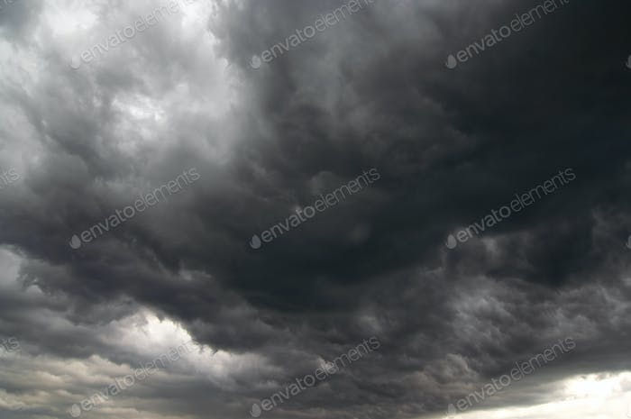 Dark storm clouds - rainy clouds