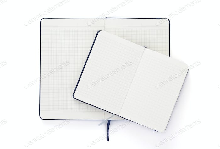 notebook at isolated white background