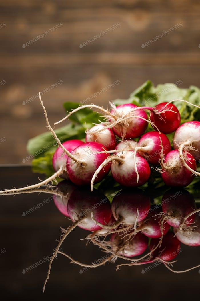 Close up of fresh radishes