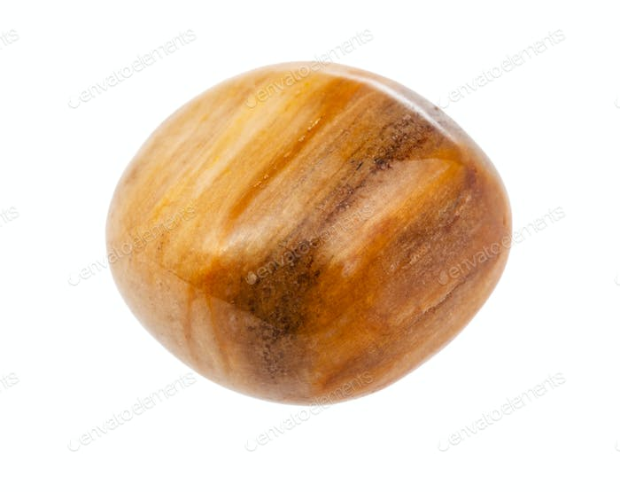 Tiger's eye gem stone isolated on white