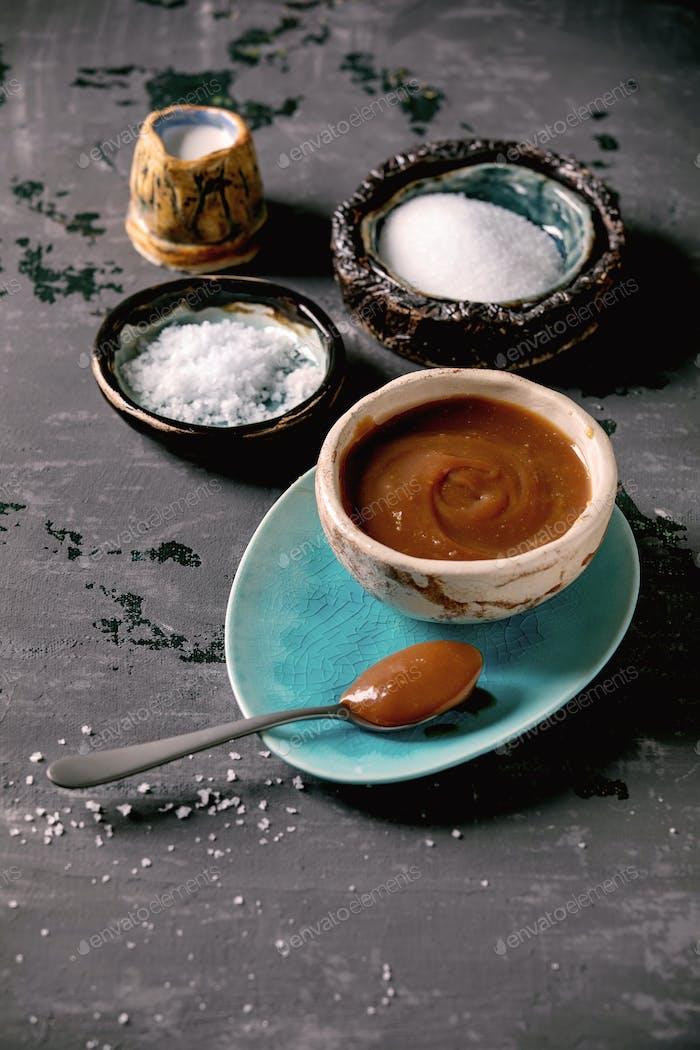 Homemade salted caramel
