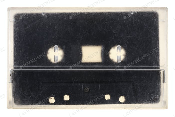 Vintage audio tape isolated on white