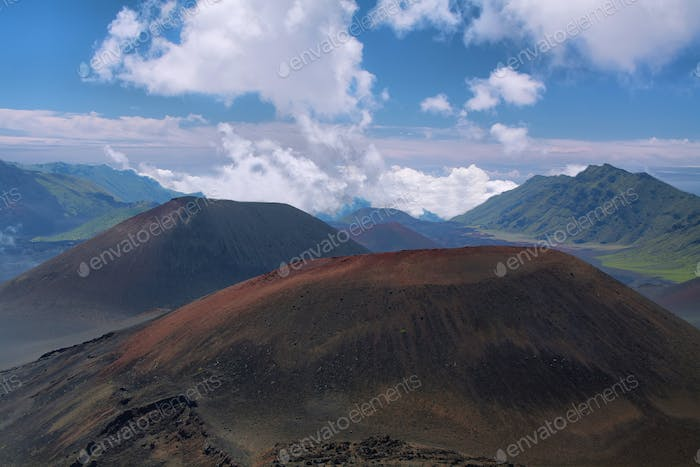 Caldera of the Haleakala volcano in Maui island