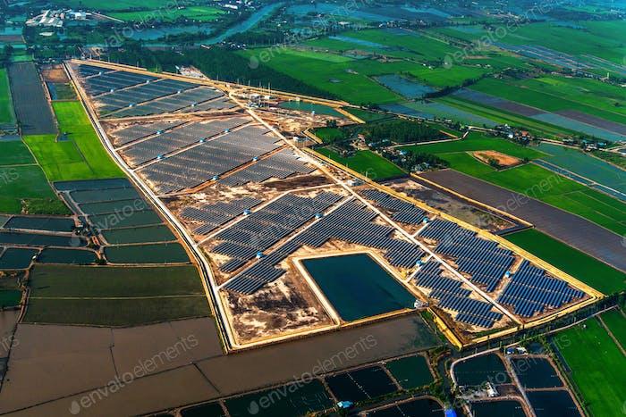 Solaranlage Panels, Energiezellen Farmen