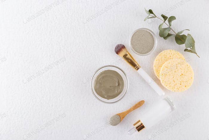 Cosmetic clay for face and hair