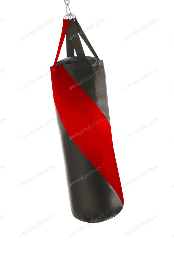 Punching bag isolated