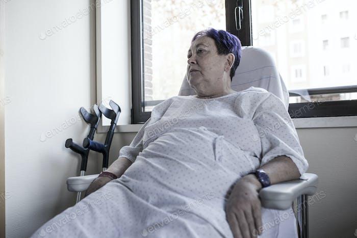 Mature woman hospitalized